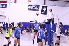 IMG_2628 (SJH Foto) Tags: girls volleyball teen teenager team quickset storm u14s net battle spike block action shot jump midair