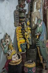 Hindu Figures and Oblects, Ambalangoda, Sri Lanka (Peter Cook UK) Tags: ambalangoda lanka statue shop southern painted antiques sri hindu figure