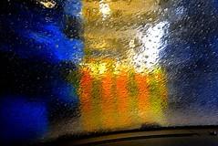 carwash 4 (HansHolt) Tags: carwash wasstraat autowasstraat windscreen windshield voorruit water foam schuim brush wrap light abstract iphone4s