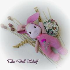 Pink Easter Bunny (tatjanapetrov) Tags: waldorftoy easterbunnytoy stuffedtoy pinktoy
