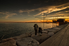 photos photographers ;-) (paolotrapella) Tags: fotografi sunset tramonto trabucchi mare cielo nuvole sky clouds