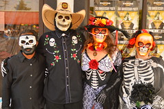 We're with the band (radargeek) Tags: okc plazadistrict dayofthedead 2016 oklahomacity mask skull loseskeletos cowboyhat