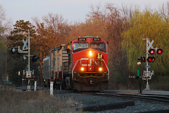 A hen's tooth (view2share) Tags: cn2276 cn canadiannational gevo ge generalelectric test testtrain siding sidetrack westbound evening sunset sundown dusk twighlight minneapolissub deansauvola newrichmond wisconsin wi stcroixcounty april232017 april2017 april 2017 spring springtime rr railway railroad railroading railroads rails rail rring railroaders track transportation trains tracks train transport trees trackage trackmaintenance mainline maintenance maintenanceofway special specialtrain trackscanning trackinspection railinspection railscanning