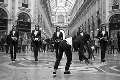 (franco indaco) Tags: girl woman face fashion show street donna bw black white wonderful dancing