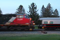 Morning Meeting (view2share) Tags: cn2596 cn1057 april242017 april2017 april 2017 cn canadiannational minneapolissub wisconsin wi stcroixcounty newrichmond spring springtime special maintenance mainline trackmaintenance test trackevaluationsystem inspectiontrain trains track transportation tracks transport train trackage trees travel freight sidetrack siding railway rr railroading railroads railroad rail rails railroaders rring deansauvola observation observationcar platform rearplatform morning 517 l517 cn517 cnl517 blur westbound ge generalelectric c449w geometry geometrytrain trackgeometry trackgeometrytrain