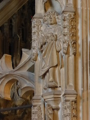 St Stephen (Aidan McRae Thomson) Tags: worcester cathedral worcestershire medieval sculpture carving statue