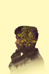 40/365 My Mind Is Lost In The Forest (Elliot Tratt) Tags: portrait portraits people person teen double dual exposure concept conceptual canon eos 5d 5dm2 2017 365 40 plant plants nature natural portraiture