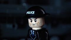 Lego Police Officer (With Brodie Helmet) (Force Movies Productions) Tags: lego war wwii world wars second helmet weapons gear helmets toy toys troops trooper troopps troopers custom ii minfig picture minifig minifigs military minifigure officer soldier conflict pose photograpgh photo photograph photoshop promo police scene scenes screenshot film frame history humor hats cool