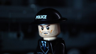 Lego Police Officer (With Brodie Helmet)