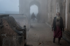 INDIA8254 (Glenn Losack, M.D.) Tags: india vindravan scenics mornings fog hinduism holy ghats ganges yamuna