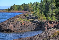 Unique Rock Formations and Blue Water at Copper Harbor Michigan (PhotosToArtByMike) Tags: copperharbor rockycoastline michigan mi keweenawpeninsula stonybeach upperpeninsulaofmichigan lakesuperior rockformations bluewater upperpeninsula up uppermichigan