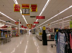 Quiet view down the front action alley (l_dawg2000) Tags: 2016 90s bigk bluelightspecial closing corinth departmentstore discountstore flood goingoutofbusiness kmart liquidation mississippi ms old remodel remodeled sale store vintage unitedstates usa