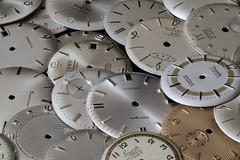 Dails, Dails, Dails... (Hans Kool) Tags: awatchmakerinheritance helicon focus watch stack horloge stacking dail wijzerplaat wijzerplaten fournituren onderdelen repair horlogemaker watchmaker