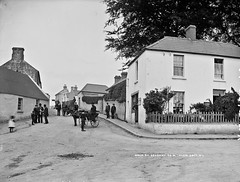 Traffic Jam in Main Street, Delgany, Co. Wicklow (National Library of Ireland on The Commons) Tags: robertfrench williamlawrence lawrencecollection lawrencephotographicstudio thelawrencephotographcollection glassnegative nationallibraryofireland delgany cowicklow trafficjam dog ponyandtrap turfcreel pedestrians footpath countywicklow cart postoffice moneyorderoffice fish bowlerhat hotel lawless postmistress evelinesidneylong annielouisalong