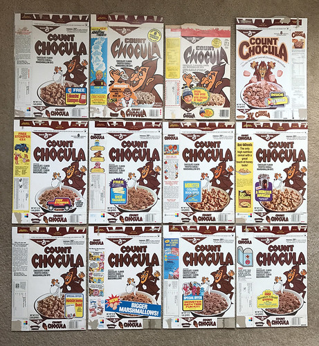 Vintage General Mills Count Chocula Cereal Box Group Monster Cereal