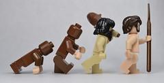 Evolution (matthismcfly) Tags: lego evolution march minifig man human history us world big bang theory brick citizen yo
