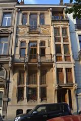 Architectenwoning Georges Delcoigne, Sint-Gillis (Erf-goed.be) Tags: architectenwoning georgesdelcoigne louismoricharplein sintgillis brussel archeonet geotagged geo:lon=43491 geo:lat=508275