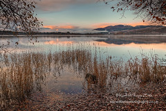 Menteith Daybreak (Shuggie!!) Tags: autumn clouds dawn grasses hdr hills lakeofmenteith landscape leaves mistandfog morninglight reeds reflections scotland shoreline snow sunrise trossachs water zenfolio karl williams karlwilliams