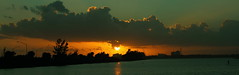 SUNSET PAN (R. D. SMITH) Tags: sunset evening clouds river florida orange water sky indianriver rt192 brevaedcountyforida shoreline eos7d canoneos7d