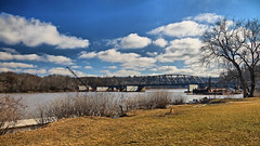 New Bridge Being Built Over Mohawk River (hbickel) Tags: bridge bridges mohawkriver highdynamicrange hdr photoaday pad canont6i canon clouds bridgeconstruction