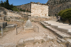 """Delphi, The sacred way, IV - The Athenians' Treasury (egisto.sani) Tags: """"sacred way"""" """"via sacra"""" omphalos treasury tesoro building edificio """"athenians treasury"""" """"tesoro degli ateniesi"""" phocis focide delphi delfi"""