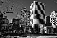 Dewey Square, Boston (ronperry811) Tags: deweysquare boston architecture silverefex bw blackwhite bostonist