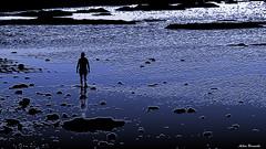 Moonwalk ... (acbrennecke) Tags: achimbrennecke moonwalk sunset walking blue seascape sea nikon5500 nikon cadiz castillodesansebastian