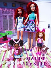 Happy Easter everyone! (flores272) Tags: easter chelseadoll arieldoll disneyprincessarielbathdoll bathdoll aachelsea ariel doll dolls toy toys