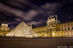 Painted Sky (penny-blog.com) Tags: night louvre paris long exposure light trail urban architecture art