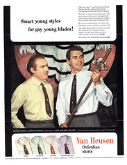 Smart young styles for gay young blades! 1953 Van Heusen ad (Tom Simpson) Tags: vanheusen gay man men vintage sword shirt fashion 1950s 1950sfashion 1953 ad ads advertising advertisement vintagead vintageads