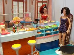 Spice Girls Cafe Bar (mydollfamily) Tags: barbie spicegirls mattel rement diorama barbiesizerementtest
