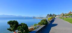 Région de Morges (Diegojack) Tags: morges vaud suisse perspective port tourelles châteaux panorama quais fleurs