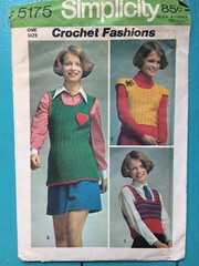 Simplicity 5175 (kittee) Tags: simplicity5175 simplicity 5175 kittee vintagepattern vintage pattern crochet vintagecrochet 1972 1970s vest sweater onesize pullover top