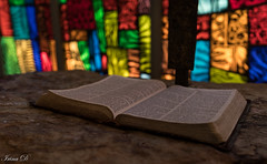 Great Wednesday    HWW (Irina1010) Tags: window stainedglass colorful book open chapel indoor canon greatwednesday meditation holiday observance