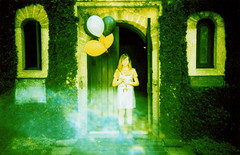 the ghosts that surround you (Britt Grimm) Tags: believeinfilm filmisnotdead filmphotography analog analogue 35mm balloons fog themission staugustine ghosts xpro crossprocessed fujiprovia fuji lomolca lomo lomography