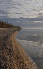 Calm Sea Setting Sun (peter_hasselbom) Tags: djauvik djupvik gotland balticsea baltic landscape sea sky clouds coast coastline sunset settingsun beach sand calmsea calm tm fujifilm