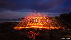 0S1A5464 (Steve Daggar) Tags: catherinehillbay sunset seascape landscape nswcentralcoast gosford wharf jetty firetwirling steelwooltwirling firespinning