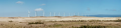 Wind Power Panorama (Geoff Sills) Tags: wind power panorama south point hawaii energy turbine windmill field plane pasture farm clear sky travel photography landscape big island nikon d700 85mm 14g geoffrey william sills geoff illumeon digital illumeondigital