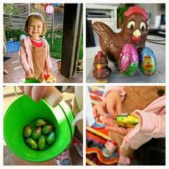 Les oeufs étaient bien au rendez vous... Ouf ! (LILI 296...) Tags: pâques oeufs collage maelys fillette girl enfance récolte poule poussins chocolat