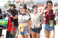 Water Festival in Thailand (popplefilm) Tags: ladyboy thai tahiland
