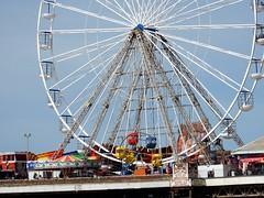 Big Wheel Little Wheel (deltrems) Tags: blackpool promenade lancashire fylde coast bigwheel littlewheel big little wheel central pier fairground ride