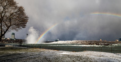 there's a hole in my rainbow (Christian Collins) Tags: canoneos5dmarkiv niagara falls ontario canadianfalls rapids hoarfrost snow winter park rainbow mist river rio