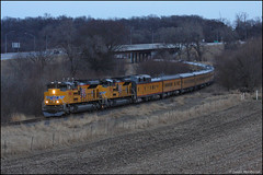 UP 8909 [Explored] (Justin Hardecopf) Tags: up unionpacific 8909 emd sd70ah business passenger special oreapolis plattsmouth nebraska railroad train