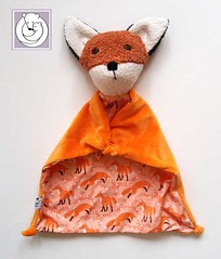 Fox Blanket Foxes (Polar Bear Creations Dolls) Tags: blanket blanky cozy babytoy toddlertoy babyshower waldorf waldorfinspired natural naturaltoy schmuse
