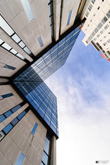 Looking up (technodean2000) Tags: cardiff travel lodge city south wales uk nikon d610 reflection windows building sky architecture