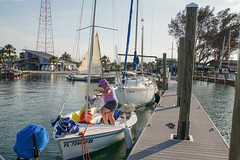 Setting up our Precision 15 at the FGCTSCA Festival at the Sarasota Sailing Squadron Friday April 21 - Sunday April 23, 2017 (dsrphotography) Tags: sarasotasailingsquadron traditionalsmallcraftassociation tsca boats sailboat sailing sarasota sss