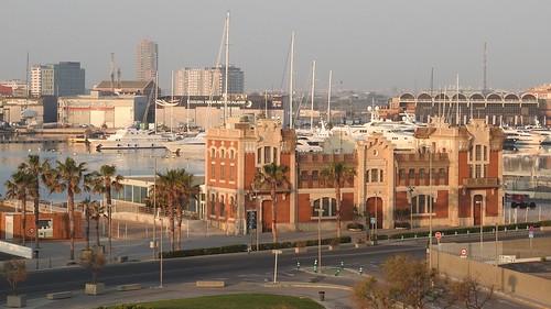 Sunrise at Marina Real Juan Carlos in Valencia Spain