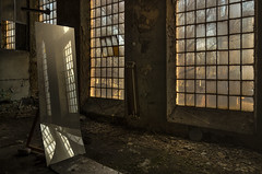 Uniontex (Tomasz Aulich) Tags: industrial building poland uniontex scheibler fabric mirror sunlight sun sunset travel europe rust abandoned decay vintage oldschool nikon nikkorlens windows floor lamp łódź oldpowerstation urbex exploration explorer urban city yellow stilllife