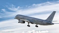 OO-TFA ASL Airlines Belgium/ NATO Boeing 757-28A(C) - cn 25622 / 530 (Otertryne2010) Tags: 2017 2k17 boeing enva norway trd trondheim værnes asl airlines belgium nato north atlantic treaty organization 75728ac takeoff