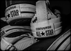 All Stars. Converse. (CWhatPhotos) Tags: sneakerhead collection assemble lots many pairs star allstars ox oxford all stars american converse baseball shoe red white rubber sneakers design chuck taylor feet foot wear shoes closeup sole size 11 macro photographs photograph pics pictures pic picture image images foto fotos photography artistic cwhatphotos that have which with contain chucks canvas canvasshoes olympus tg4